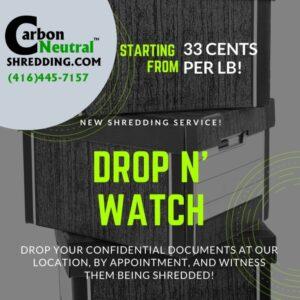 drop off shredding toronto